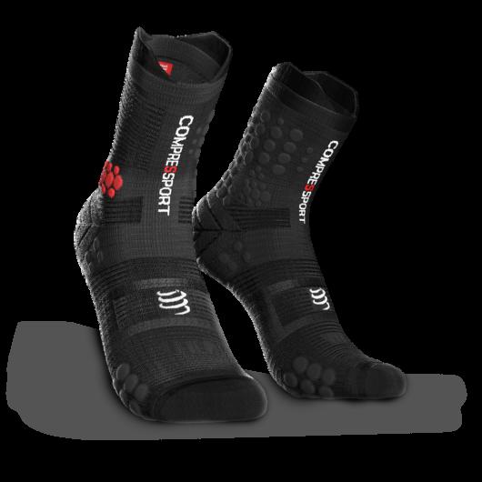 Compressport Pro Racing Socks v3.0 Trail fekete terepfutó zokni T1