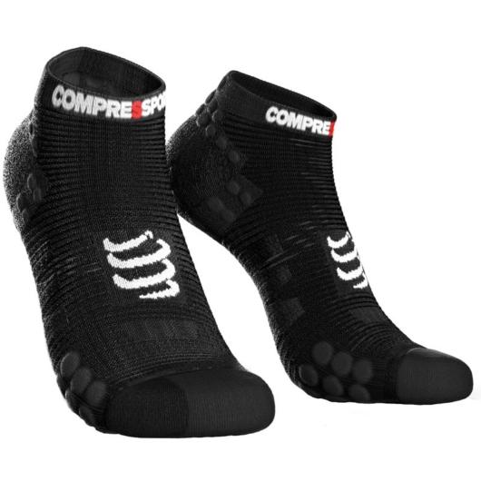 Compressport Pro Racing Socks v3.0 Run fekete titokzokni T2