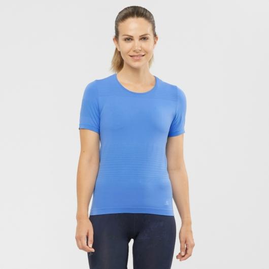 Salomon Elevate MOVE\'ON TEE W női futópóló - kék