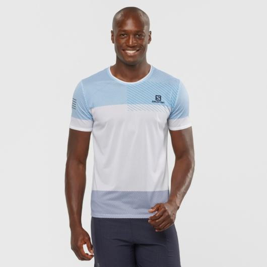 Salomon Sense TEE M férfi futópóló - kék