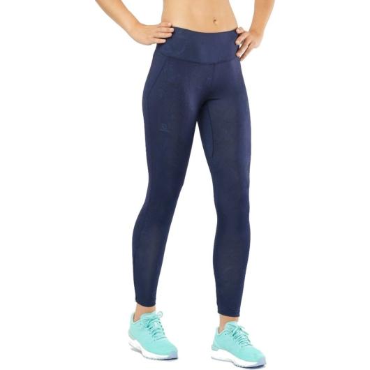 Salomon Agile LONG TIGHT sötétkék női futónadrág