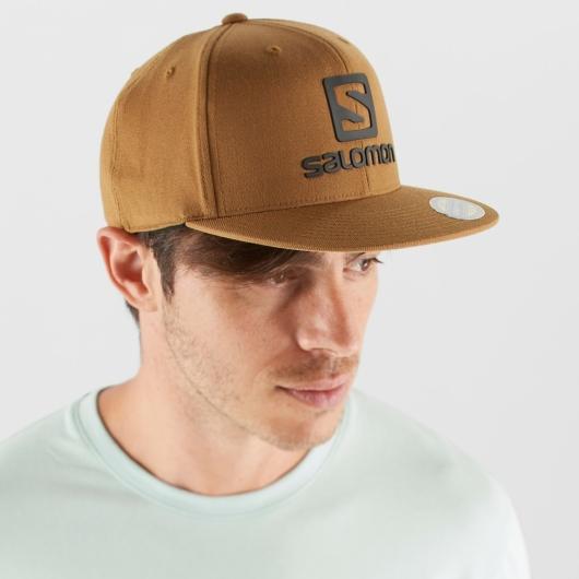 Salomon LOGO CAP FLEXFIT - brown