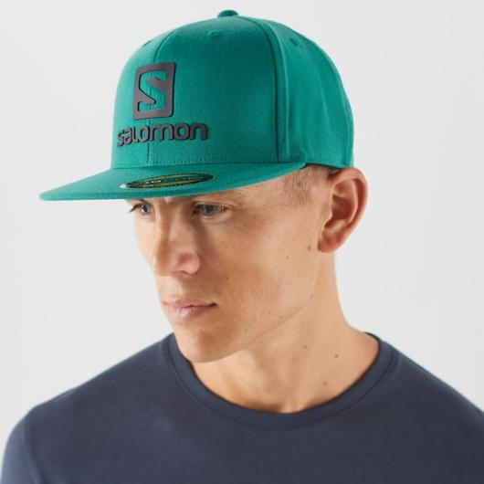Salomon LOGO CAP FLEXFIT - pacific