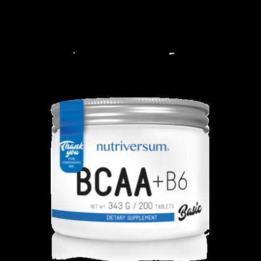 Nutriversum BCAA+B6 BASIC, 200 tabletta - Ízesítetlen