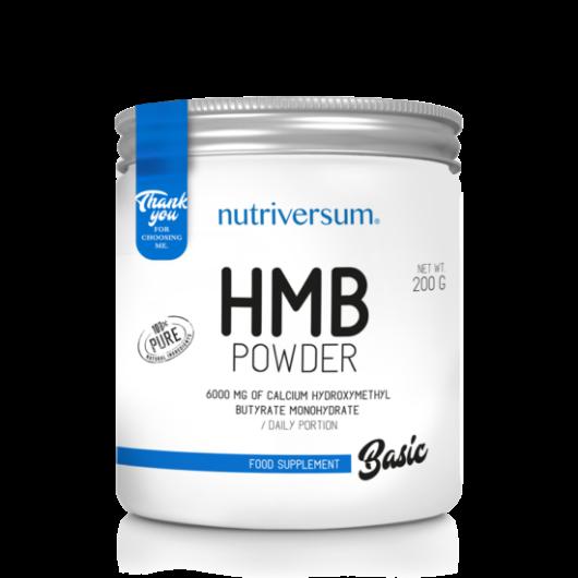 Nutriversum HMB Powder BASIC, 200 g - Ízesítetlen