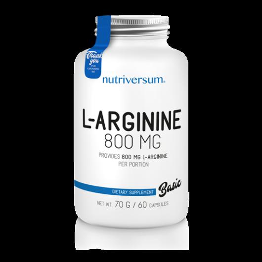 Nutriversum L-Arginine - 60 kapszula