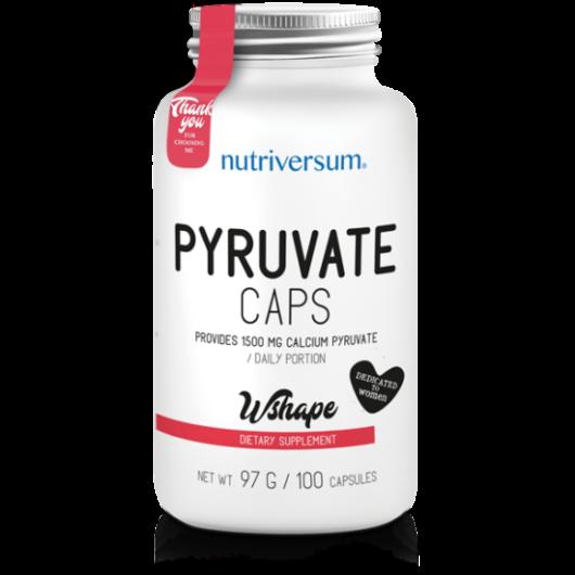 Nutriversum WSHAPE Pyruvate - 100 kapszula