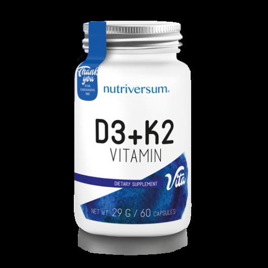Nutriversum D3+K2 - 60 kapszula