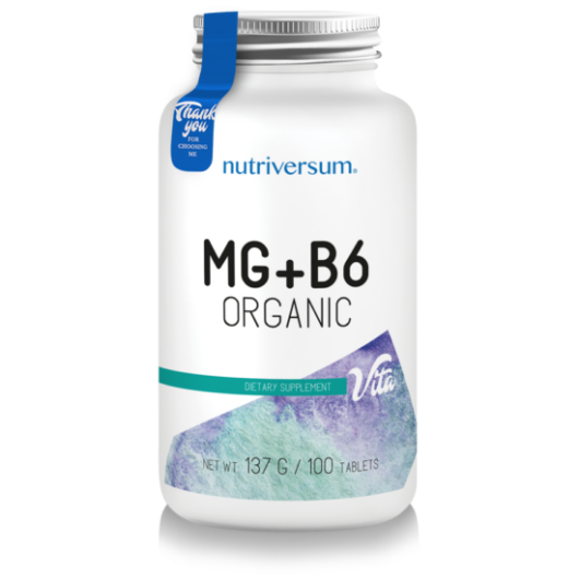 Nutriversum MG+B6 - 100 tabletta