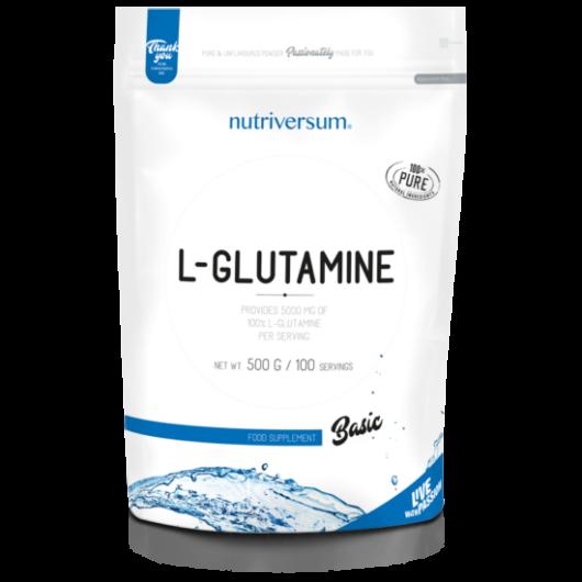 Nutriversum 100% L-Glutamine, 500 g - ízesítetlen