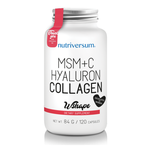 Nutriversum MSM+C Hyaluron Kollagén - 120 db kapszula