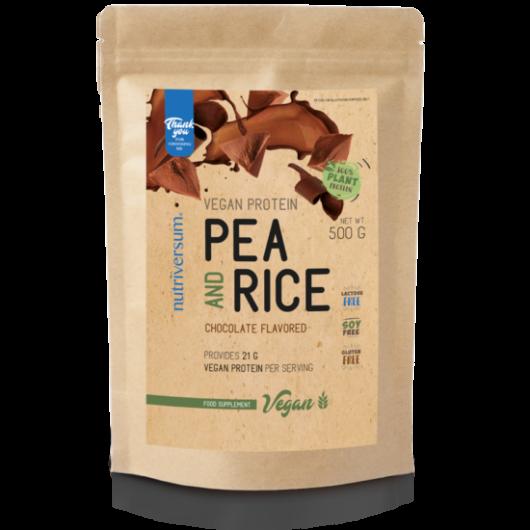 Nutriversum Pea & Rice VEGAN Protein, 500g - csokoládé