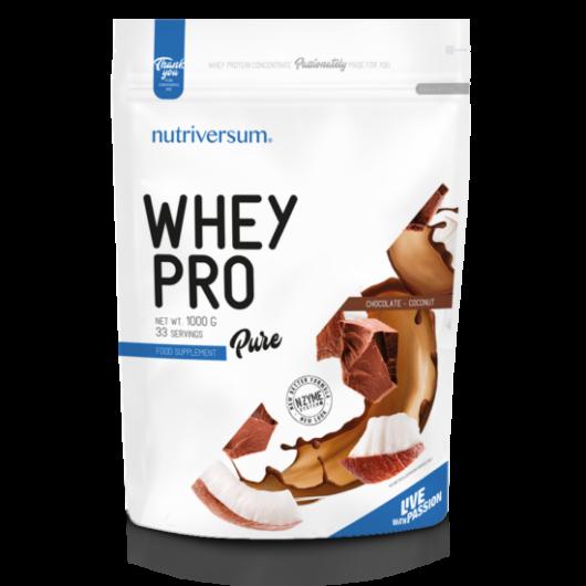 Nutriversum Whey PRO PURE, 1000 g - csokoládé kókusz