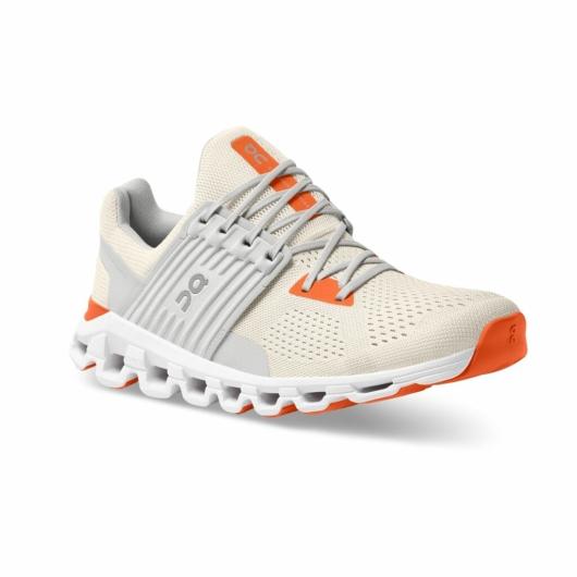 On Cloudswift férfi futócipő - fehér/narancssárga