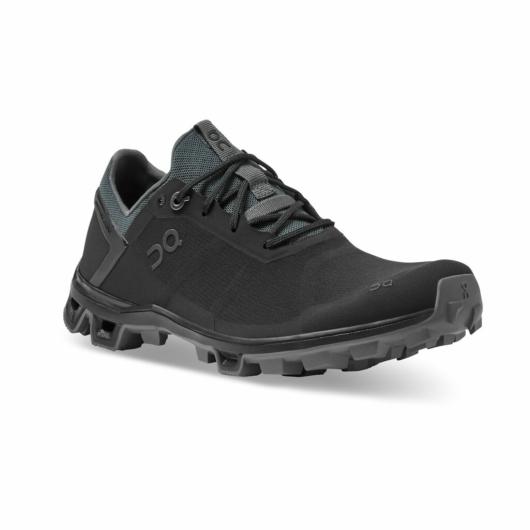 TESZT On Cloudventure PEAK fekete férfi terepfutó cipő