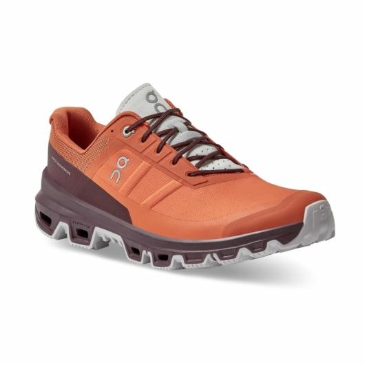 On Cloudventure tűzpiros férfi terepfutó cipő