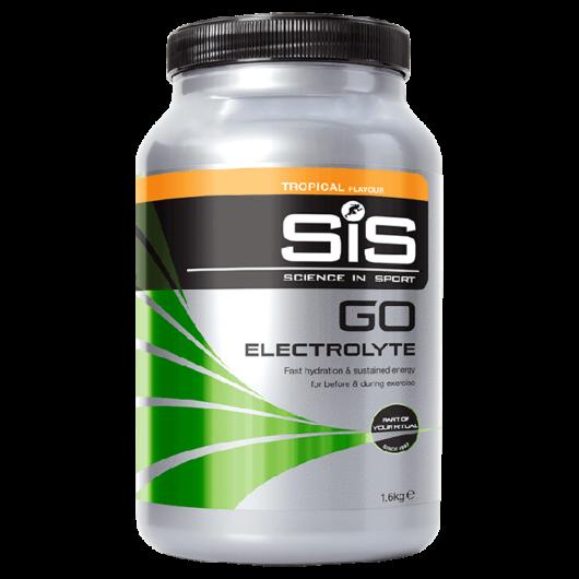 SiS GO Electrolyte izotóniás sportital por, 1600 gr (20 Liter elkészítéséhez) - Tropical